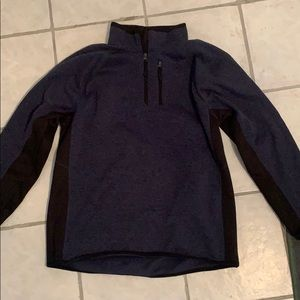 Blue Beverly Hills Polo Club 3/4 zip sweater Large